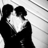 Hochzeitsfotograf schwarzweiß Fotografie Portraits nacht
