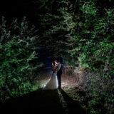 Hochzeitsfotografie Hofgut Rodenstein bei nacht Brautpaar Braut Bräutigam