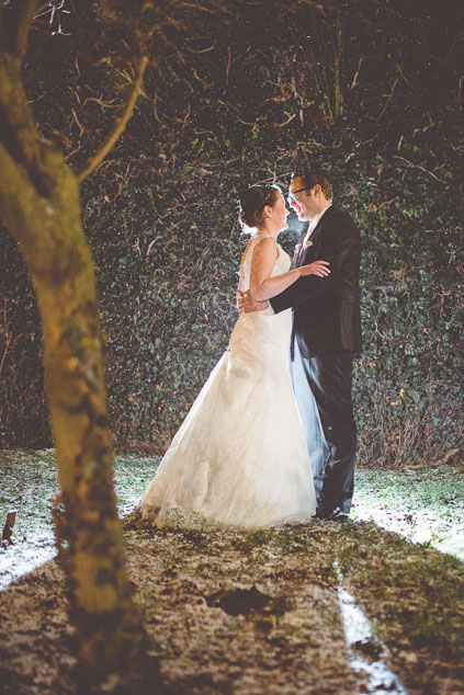 Hochzeitsfotos Winterhochzeit Schnee