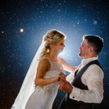 Portrait Brautpaar Hochzeit Tanz